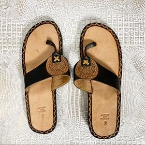 Brown Mexican Craft Sandals